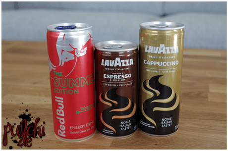 Red Bull Summer Edition Wassermelone || Lavazza Double Espresso & Milk || Lavazza Cappuccino