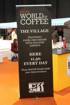 The Roasters Village Forum war eine Neuheit beim SCAE World of Coffee Event
