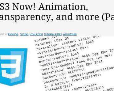 Tutorial: Keyframe-Animationen mit CSS3