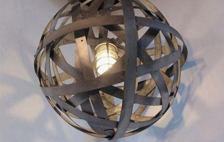 Drink Up Orbits: A Chandelier Made from Wine Barrels