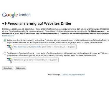 Mit dabei | Google +1