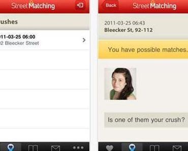 Streetmatching, eine App zum Flirten