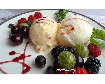 2 am Samstag : Buttermilch  Eis  und Buttermilch - Orangen Eis