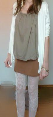 OOTD: Brown and White!