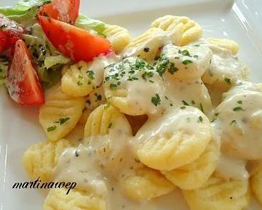 Gnocchis mit Gorgonzola Soße