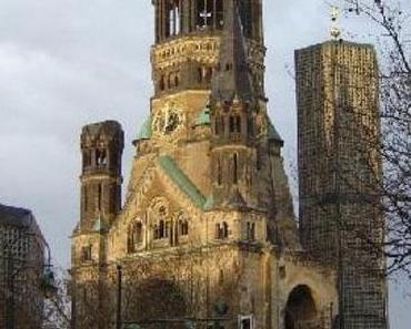 Die Ruinen der Kaiser Willhelm Kirche in Berlin