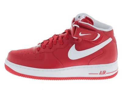 nike air force 1 mid ganz rot