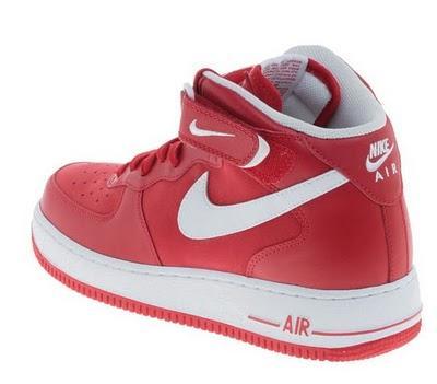 Nike Air Force 1 Mid Rot Weiß