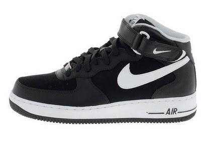 Nike Air Force 1 Damen Schwarz Weiß