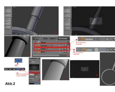 Die Kamera auf das, was ich im 3D-Fenster sehe, ausrichten