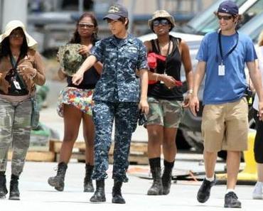 Bilder von Rihanna am Battlefield Set