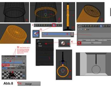 Einen Meshbereich für das Material festlegen und Material zuweisen