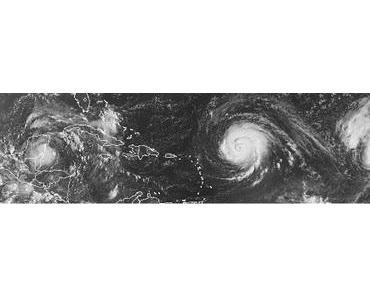 Atlantik aktuell: Satellitenbild Tropensturm KARL, Hurrikan IGOR & Hurrikan JULIA