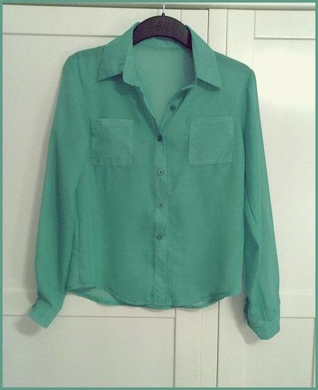 Green Sheer Blouse.