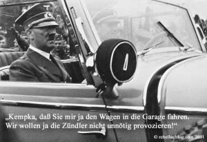 Alternativlos: Angela Merkel parkt nur noch in der Garage, Berlins Strassen Brandgefährlich