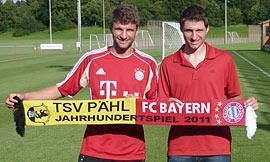 Bayern zu Gast beim TSV Pähl - die sportliche Seite des Industrie- Fußballs