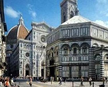 Geburt der Perspektive der Piazza del Duomo in Florenz