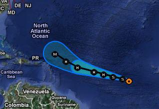 Bedroht oder gefährdet Hurrikan KATIA die Dominikanische Republik (Dom Rep)?