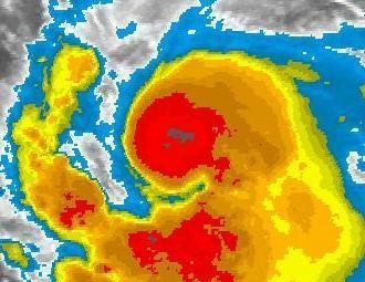 KATIA fast Hurrikan - Ist da auf dem Satellitenbild schon ein Auge zu sehen?