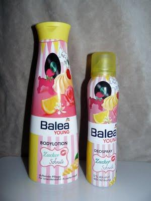 Balea Young - Zuckerschnute Bodylotion und Deospray