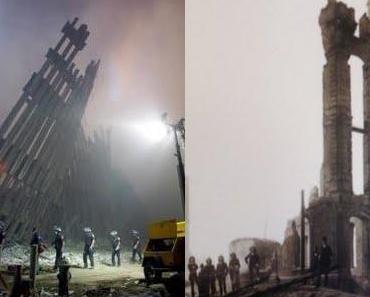 Vor den Trümmern der Vergangenheit