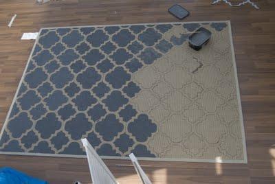 gerade habe ich eine tolle anleitung zum bemalen von tepp. Black Bedroom Furniture Sets. Home Design Ideas