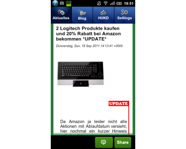 Die App zum Sonntag: MyDealz für Android