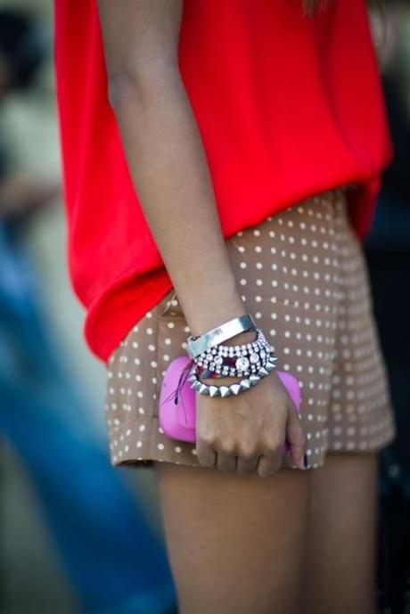 thecovetedmuse:  my favorite polka dot shorts and bracelets!...