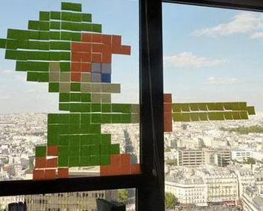 Post-it in Paris, ein urbaner Krieg