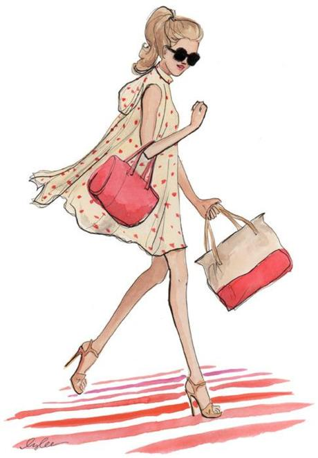 "katespadeny:  ""a sketch of my favorite look from the new kate..."