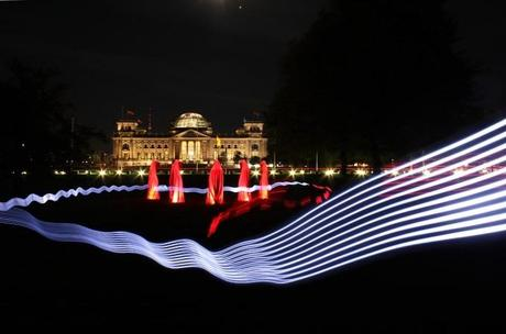 Festival of Lights Berlin – Time guards on tour by Manfred Kielnhofer – Reichstag