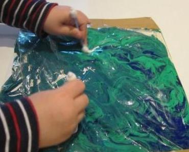 Fingerfarbe mal anders | no mess finger paint