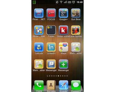 Espier Launcher für Android – Launcher im iPhone Look