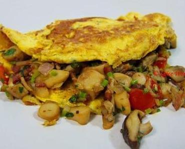 Omelett mit Pilzen Rezept