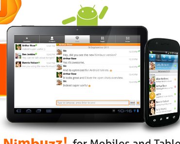 Nimbuzz Messanger nun für Android-Tablets optimiert.
