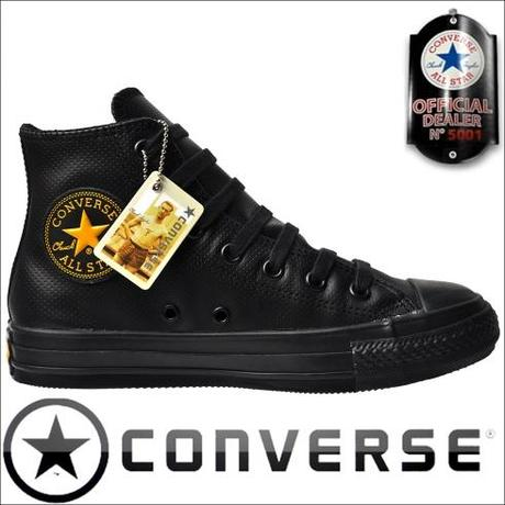 Converse Chuck Taylor All Star Winter Chucks 105990 Leder schwarz Gold !