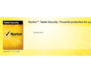 Norton bringt Sicherheit auf Android-Tablets.