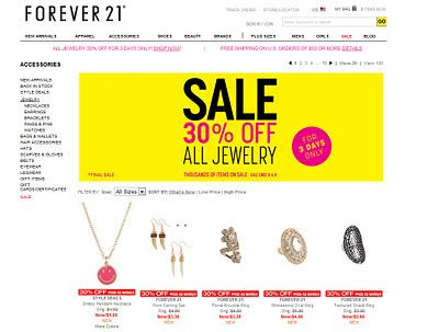 Forever21 shopping tipp jewelry sale for Jewelry sale online shopping