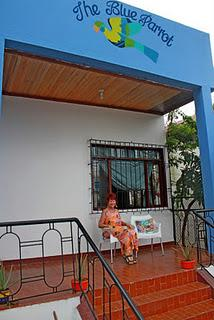 Barbara runs the blue parrot in Bahia de Caráquez