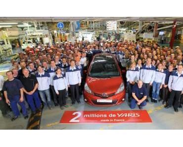 Zwei Millionen Toyota Yaris aus Valenciennes