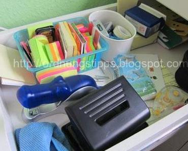 10 Minuten Aufräumen - Schreibtischschublade