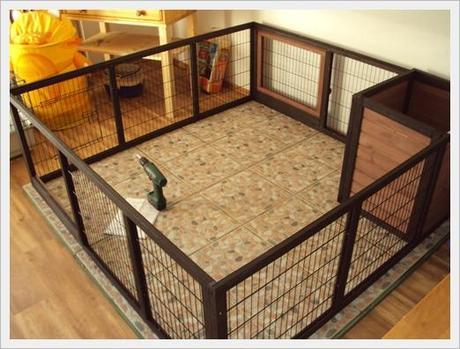 das neue kaninchengehege. Black Bedroom Furniture Sets. Home Design Ideas