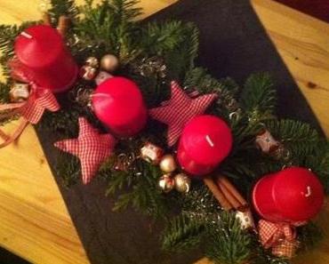 |News| Mein Ergebnis der 3. Woche des Kreativ-Wettbewerbs von Ferrero - Adventsgesteck mit Küsschen