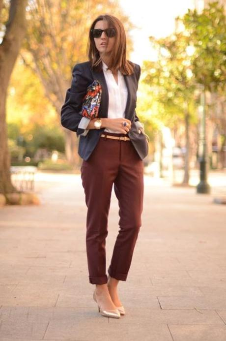 what-do-i-wear:  pants: Zara // shoes: Zara // blazer: Zara...