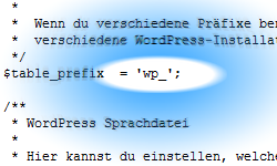 Tutorial: WordPress Tabellen Prefix ändern