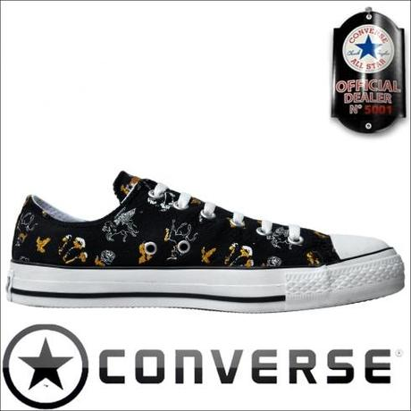 Converse All Star Chuck Taylor OX Chucks Schwarz Silber Gold Black Glitzer