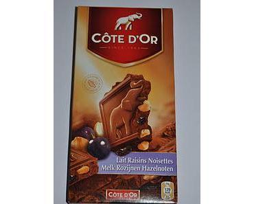 Côte d'Or Lait Raisins Noisettes, Frédéric Chocolatier L'instinct Chocolat aux éclats de Caramel au Beurre Salé und Rigoni di Asiago Nocciolata