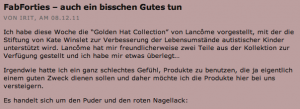 """FabForties versteigern """"Golden Hat"""" Produkte als Spende für die Stiftung!"""