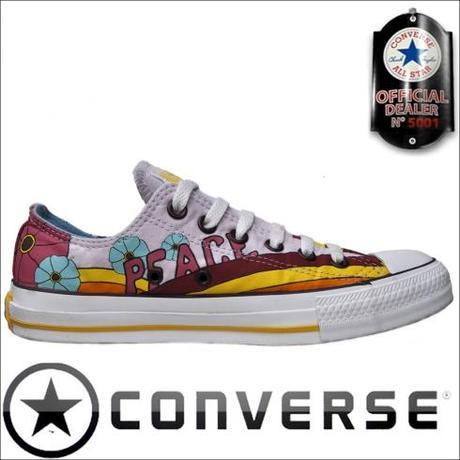 Converse All Star Chuck Taylor OX Chucks Multi Color Love + Peace
