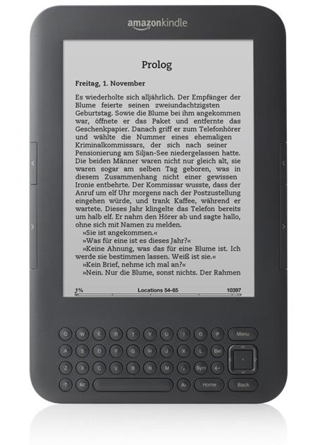 E-Book Reader im Test: Amazon Kindle Keyboard.